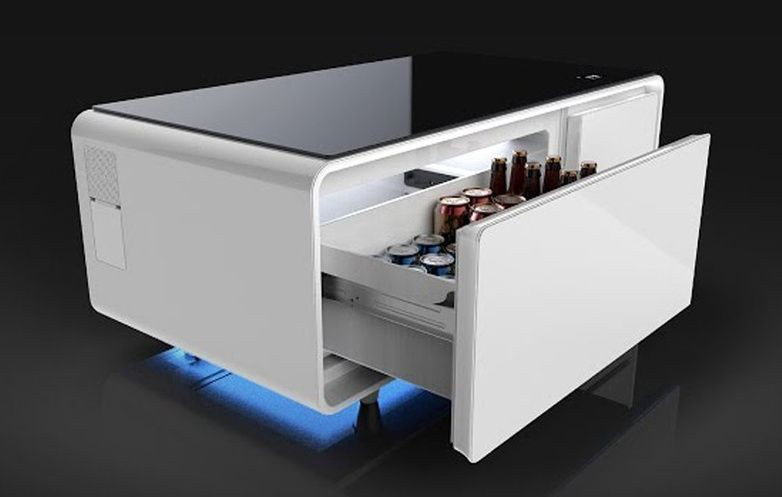 This Smart Coffee Table Has a Speaker System and a Refrigerator  #IoT