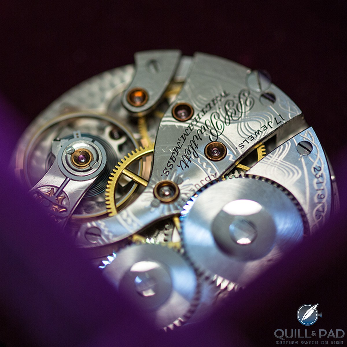 A refurbished vintage movement at the Struthers workshop