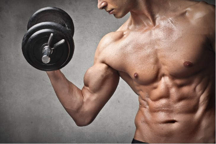 man-holding-dumbbell-and-muscles
