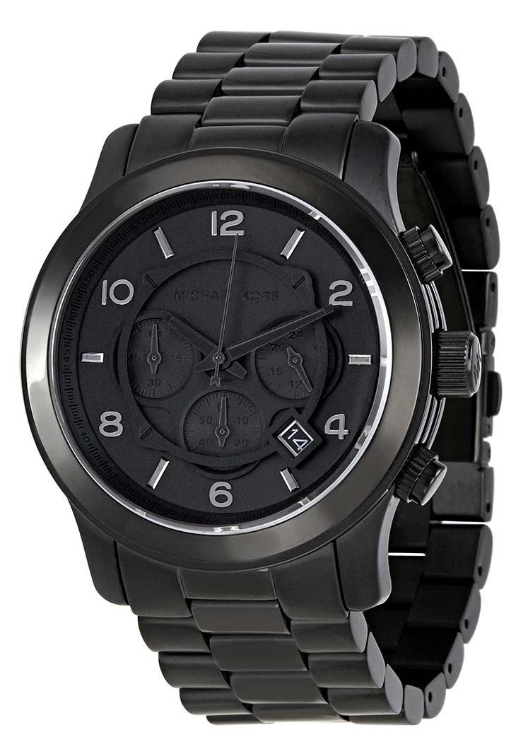 5c711bf15a5 Michael Kors Blacked Out Runway Chronograph MK8157 Mens Watch   Timeless  Design
