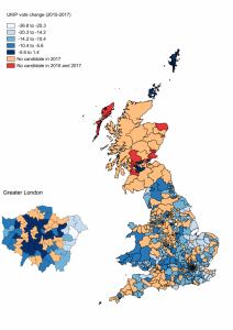 Elections in Europe: A map of UKIP losses in 2017