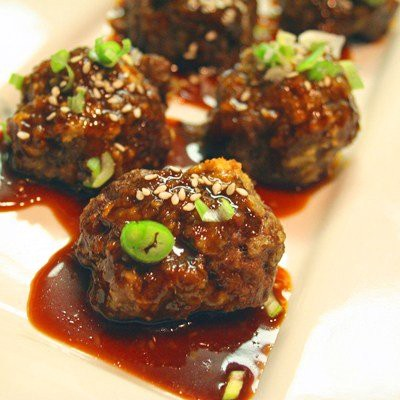 CHINESE BEEF MEATBALLS WITH HOISIN GINGER SAUCE RECIPE