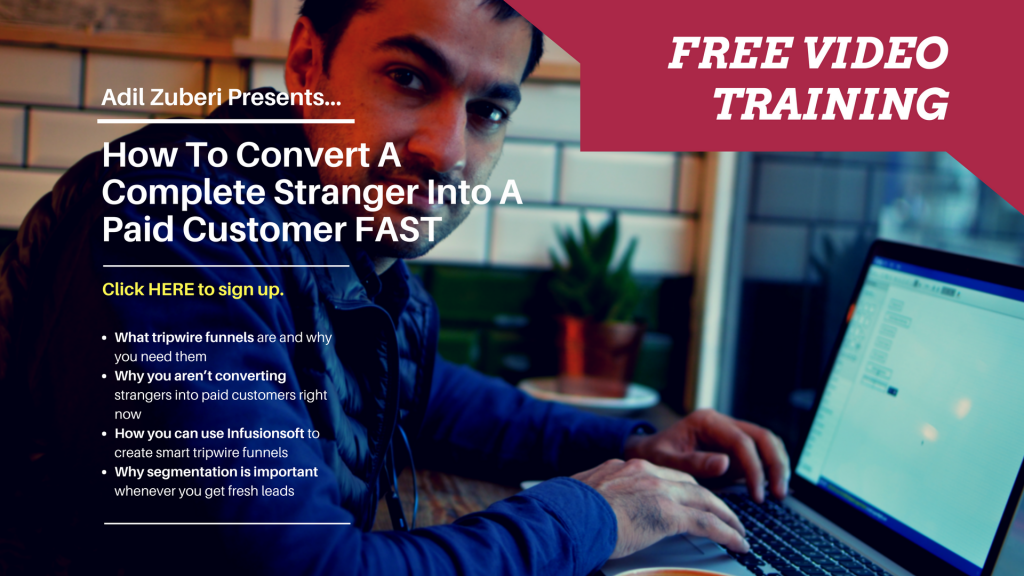 How to convert a complete stranger into a paid customer fast Ad