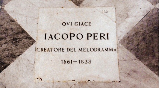 Peri's Grave marking in the Santa Maria Novella