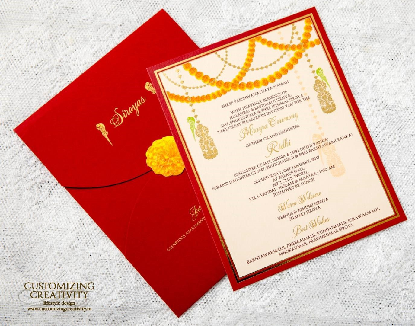 Unique Wedding Invitation Cards – Mahi Arora – Medium