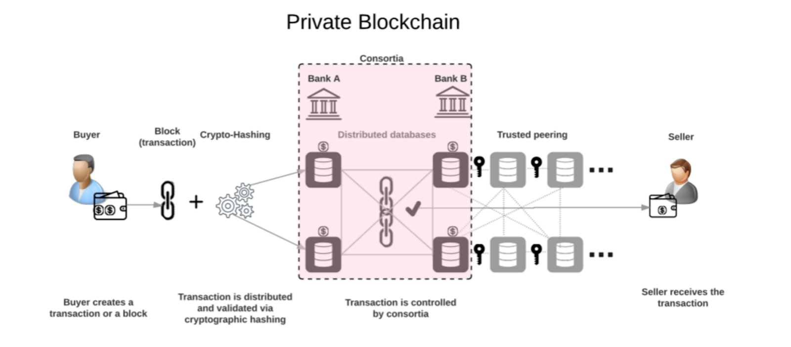 Utilization Of Distributed Technologies For Custom Solutions Public Rules Block Diagram Reduction A Consortium Or Company That Manages Private Blockchain May If Desired Easily Set New Cancel Transactions Correct Balances Etc