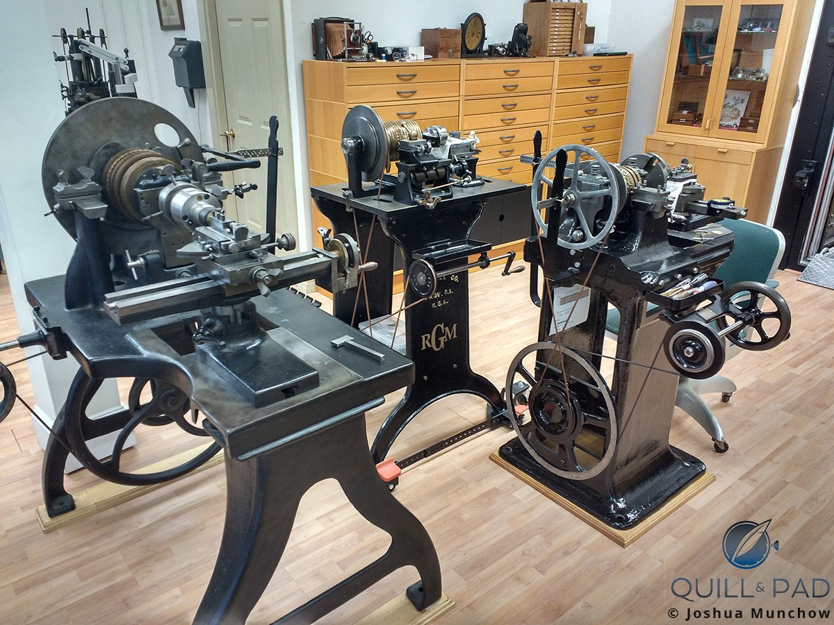 Guilloche rose machines at the RGM workshop