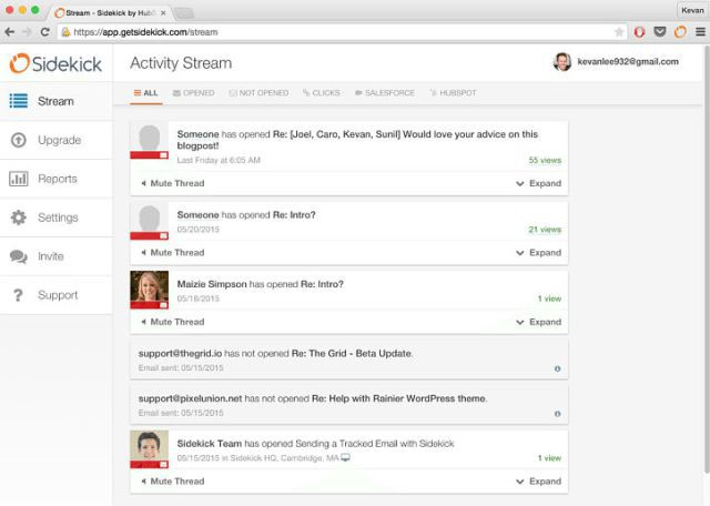 HubSpot Sales can track your outgoing email to tell you when the recipient has read your email