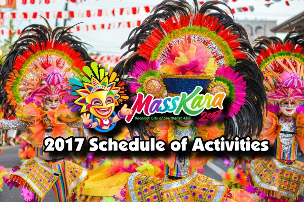 MassKara Festival 2017 Schedule of Activities
