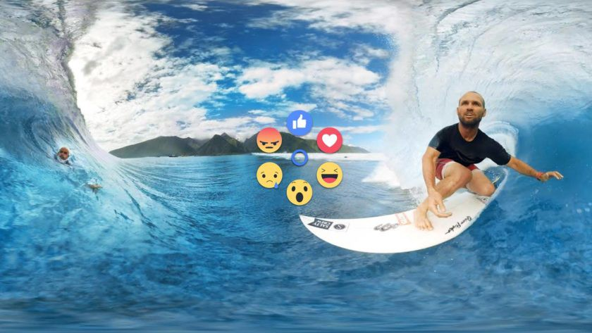 You can now like and react to 360-degree #facebook videos on Gear #vr