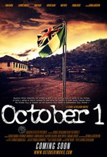 October 1 is a 2014 Nigerian dark psychological thriller film written by Tunde Babalola, produced and directed by Kunle Afolayan. It stars Sadiq Daba, Kayode Olaiya, David Bailie, Kehinde Bankole, Kanayo O. Kanayo, Fabian Adeoye Lojede, Nick Rhys, Kunle Afolayan, Femi Adebayo, Bimbo Manuel, Ibrahim Chatta and introducing Demola Adedoyin; it also features special appearance from Deola Sagoe. The film, which is set in Colonial Nigeria, narrates the story of Danladi Waziri (Sadiq Daba), a police officer from Northern Nigeria who is posted to a remote town of Akote in Western Nigeria to investigate the frequent female murder cases in the community, and have the mystery solved before the Nigerian flag is raised on October 1, Nigeria's Independence Day. The critically acclaimed movie gained so much praises from both viewers and film critics within and outside Nigeria. October 1 won several awards and also earned Kehinde Bankole best actress in 2015 Africa Magic Viewers Choice Awards. She has since then featured in both stage plays and other box office movies.