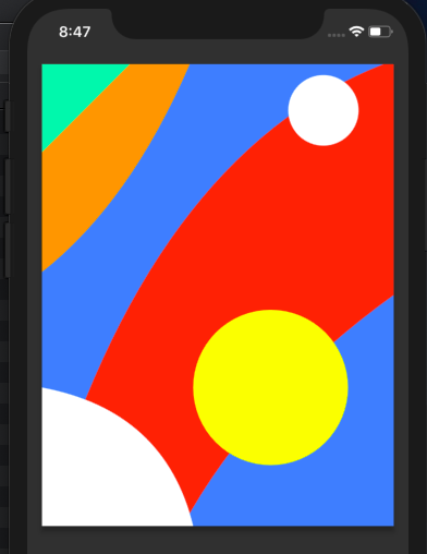 Custom Shapes and Curves drawn using CustomPainter in Flutter