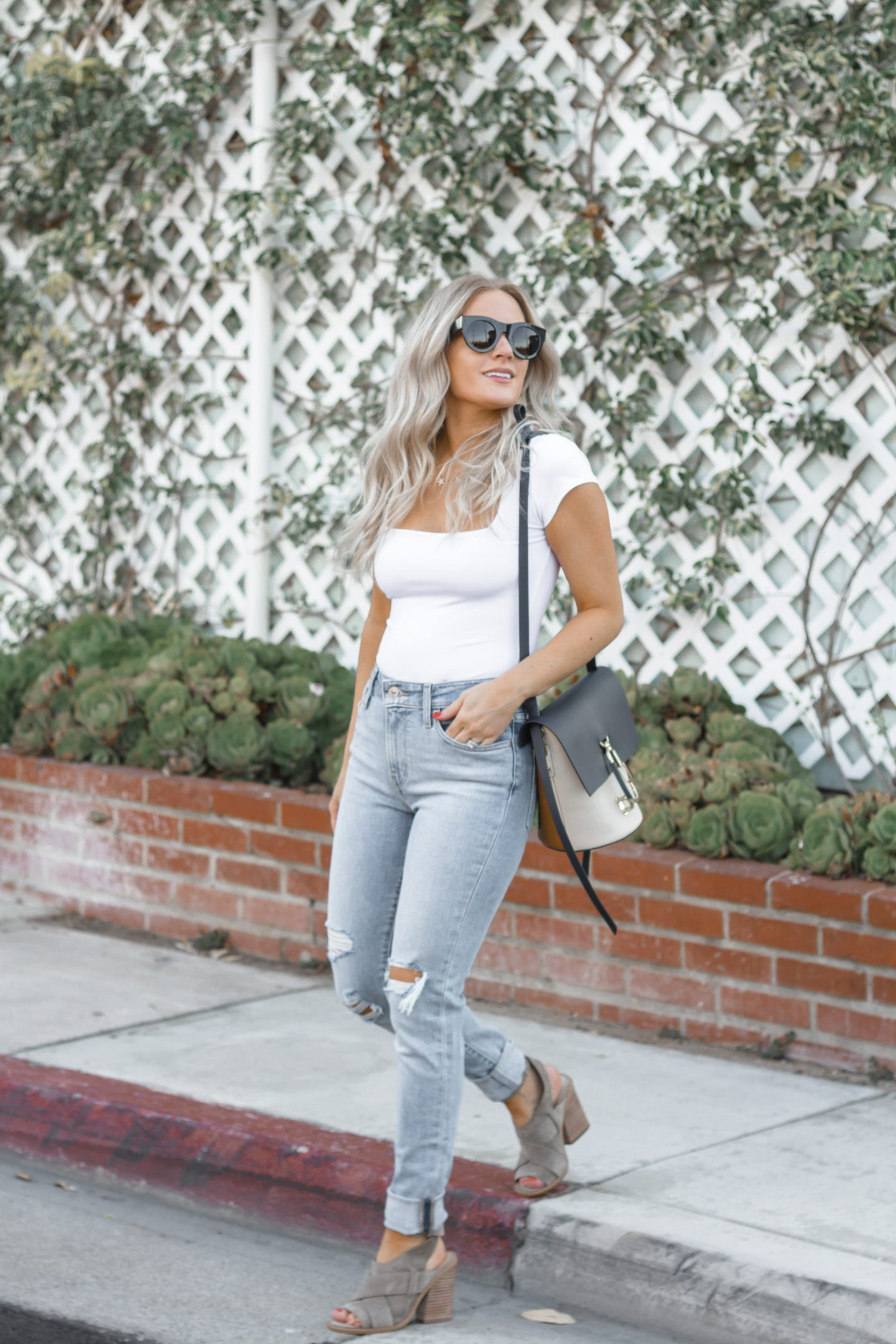 Free People Bodysuit styled by top Orange County fashion blog, Dress Me Blonde