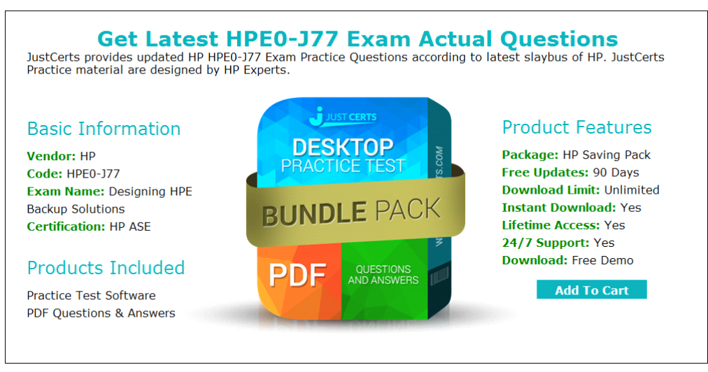 Real Designing Hpe Backup Solutions Hpe0 J77 Exam Question Samples