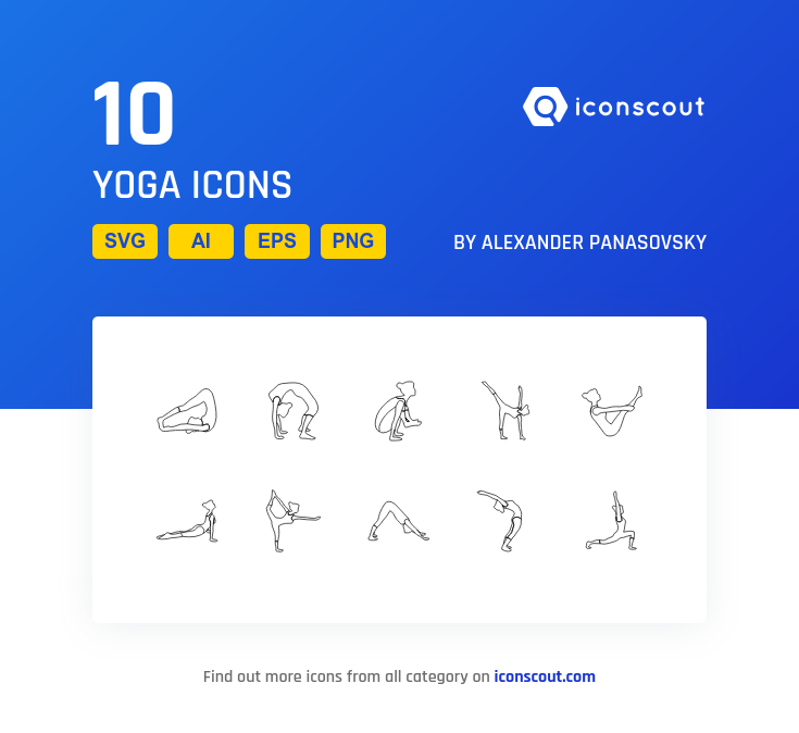 Yoga icons by Alexander Panasovsky