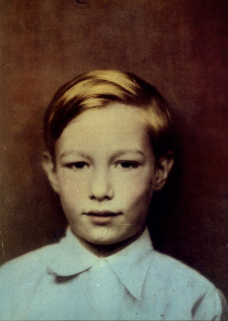 The young Andrew Warhola, 1933
