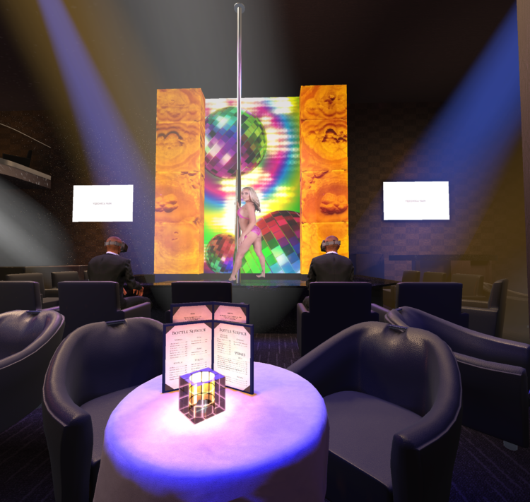 A glimpse at the Gold Club in VR. Pic: VRClubz.
