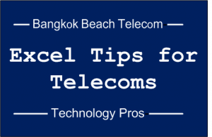 Excel Tips for Telecoms