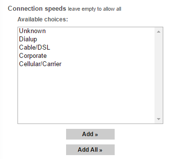 popads connection speeds