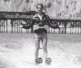 Picture of Fonzie on waterskis (Happy Days) after he Jumped the Shark