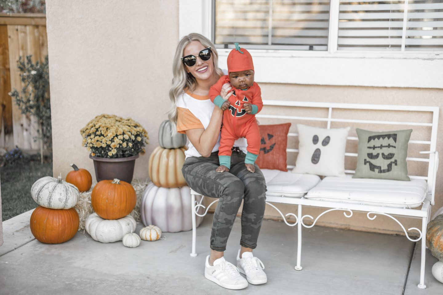 Cute Baby Halloween Costumes featured by top Orange County life and style blog, Dress Me Blonde: pumpkin