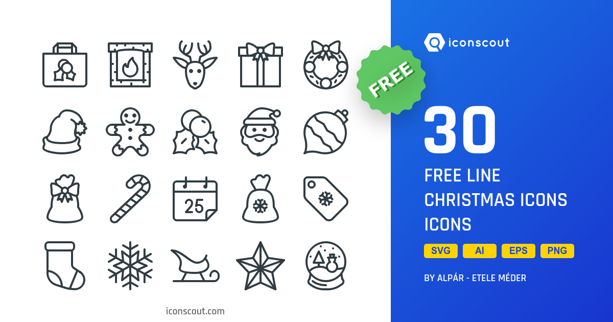 Free Line Christmas Icons icons by Those Icons