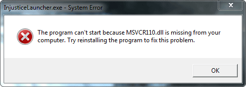 msvcr100.dll is missing from your computer wamp server