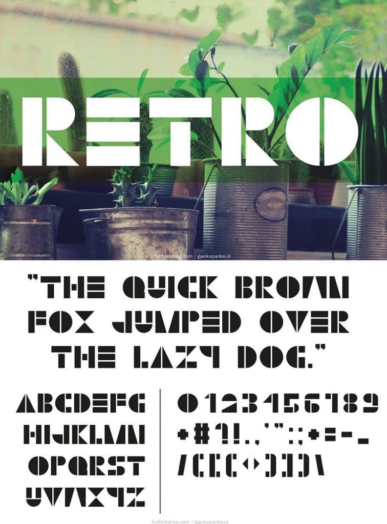 Retro font by Fun Font Shop