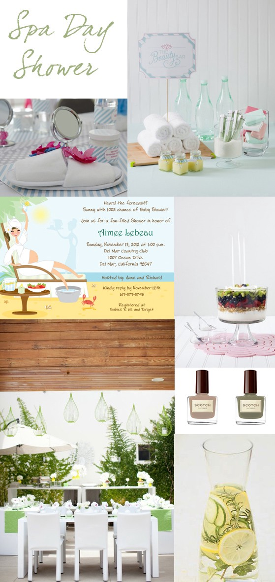 Inspiration: Spa Day Shower Theme – Storkie: Ideas, Inspiration, and ...