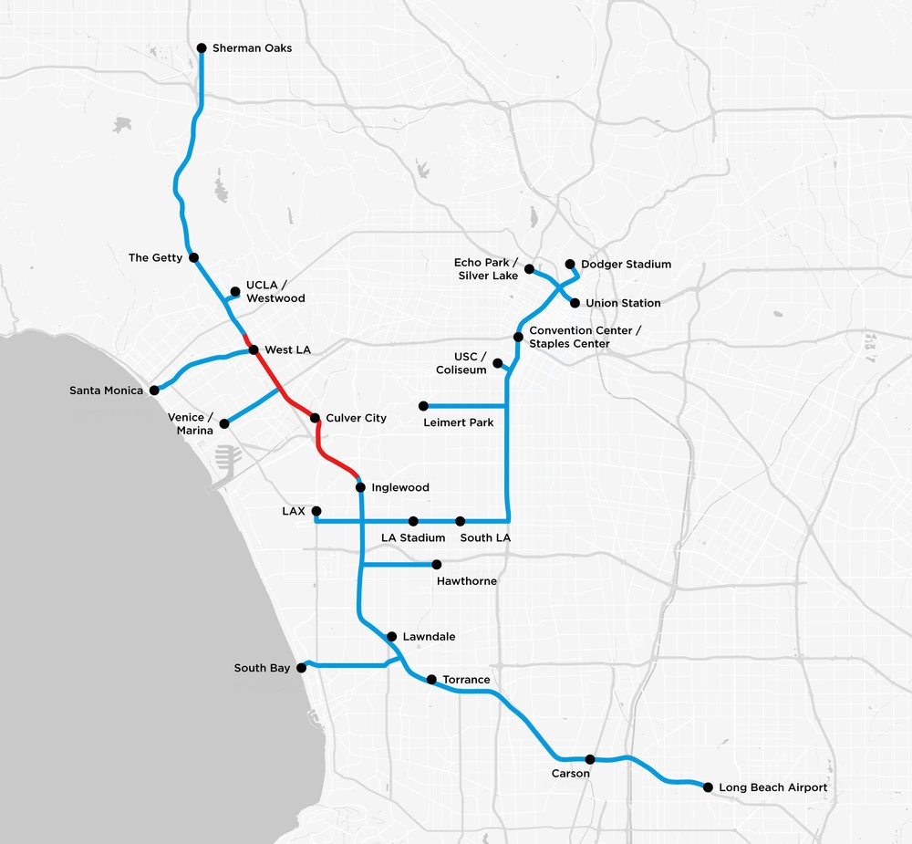 Tesla releases map of planned LA Boring tunnels