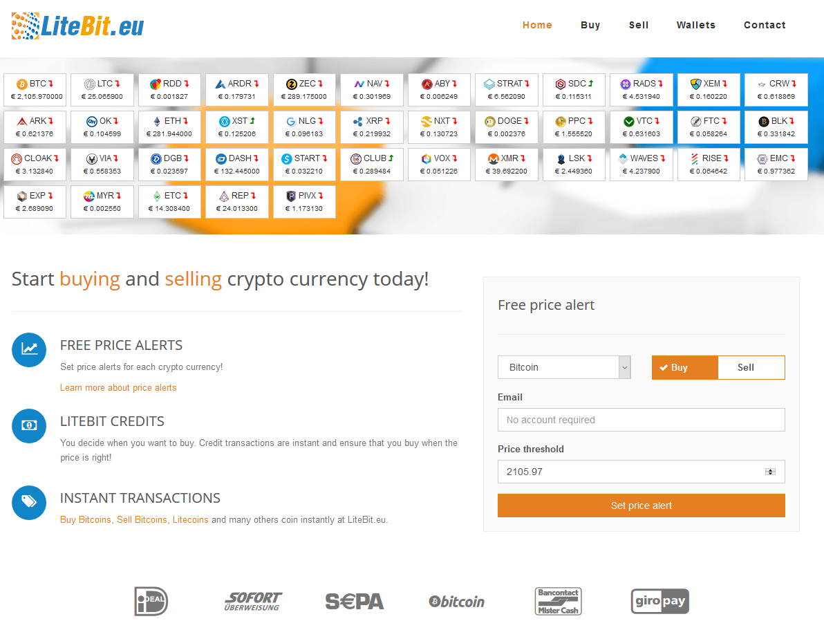 Buy bitcoin and okcash with sofort giropay and sepa at europes litebit offers different services like buysell cryptocurrencies with fiat cryptocurrency wallets and price alarms among others ccuart Gallery