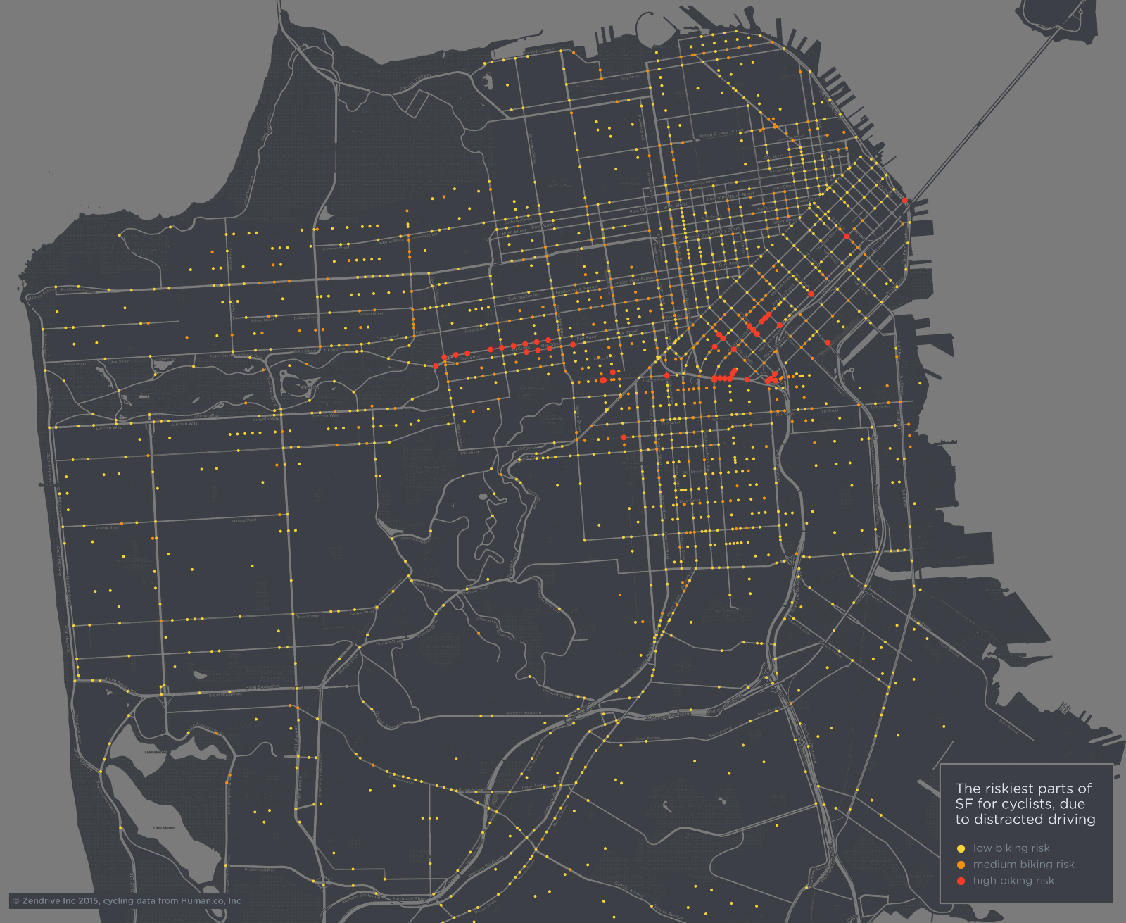 This Map Shows The Most Dangerous Places To Bike In SF — The Bold Italic — San Francisco