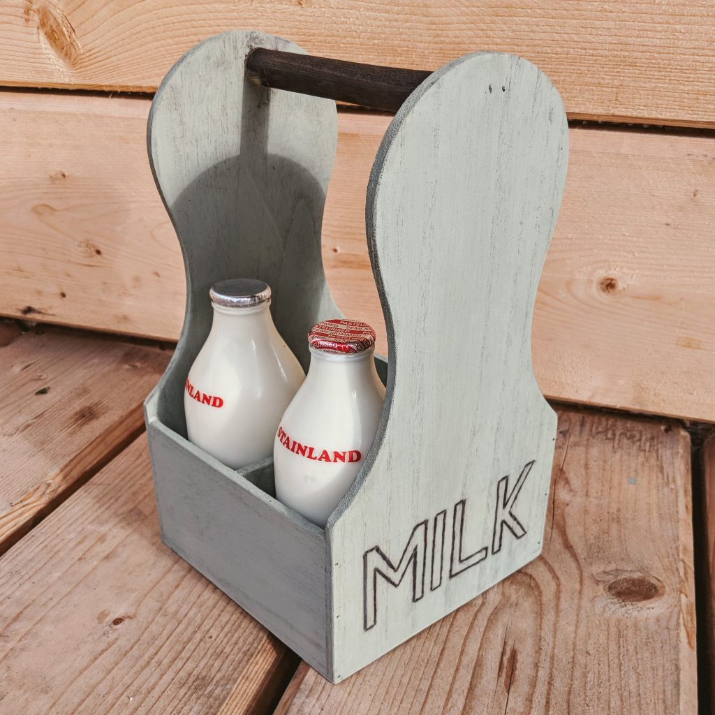Upcycled Packaging Milk Carrier - Finished Milk Carrier