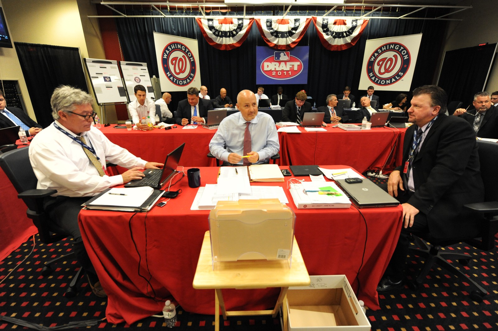 Greetings From The Nationals 2011 Draft War Room I Am John Dever Sr Director Of Baseball Media Relations And Collaborating With