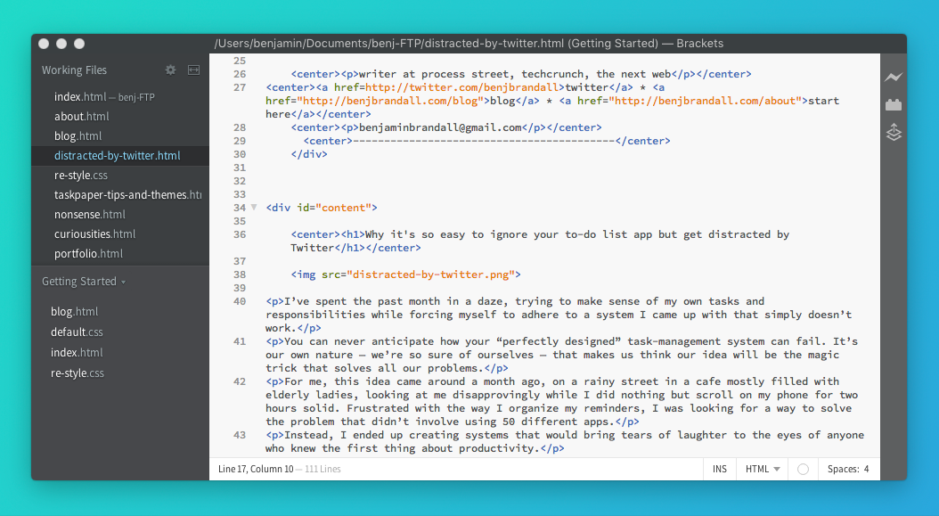 My Web Development Workflow for a Self-Hosted Site – Benjamin