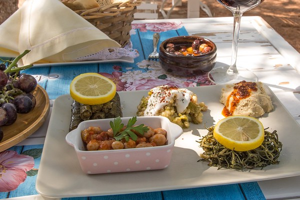 Just Part of the Spread I Enjoyed at Noni's House Restaurant in Alacati, Turkey