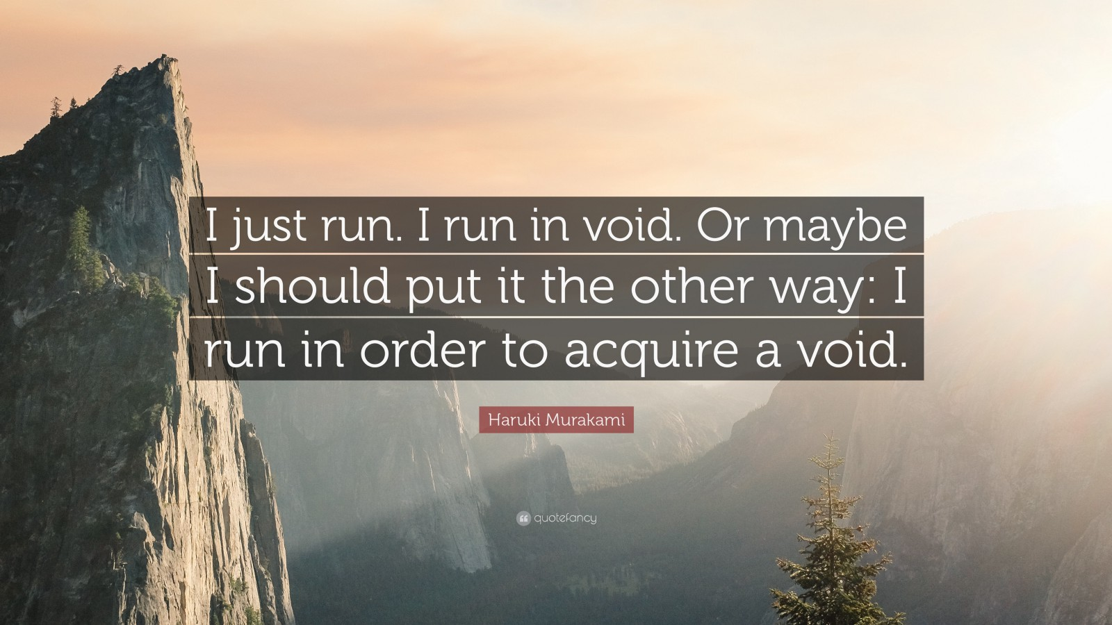 A quote about running by Haruki Murakami