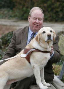Michael Hingson and his guide dog.