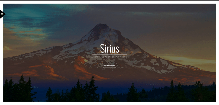 Sirius WordPress photography theme