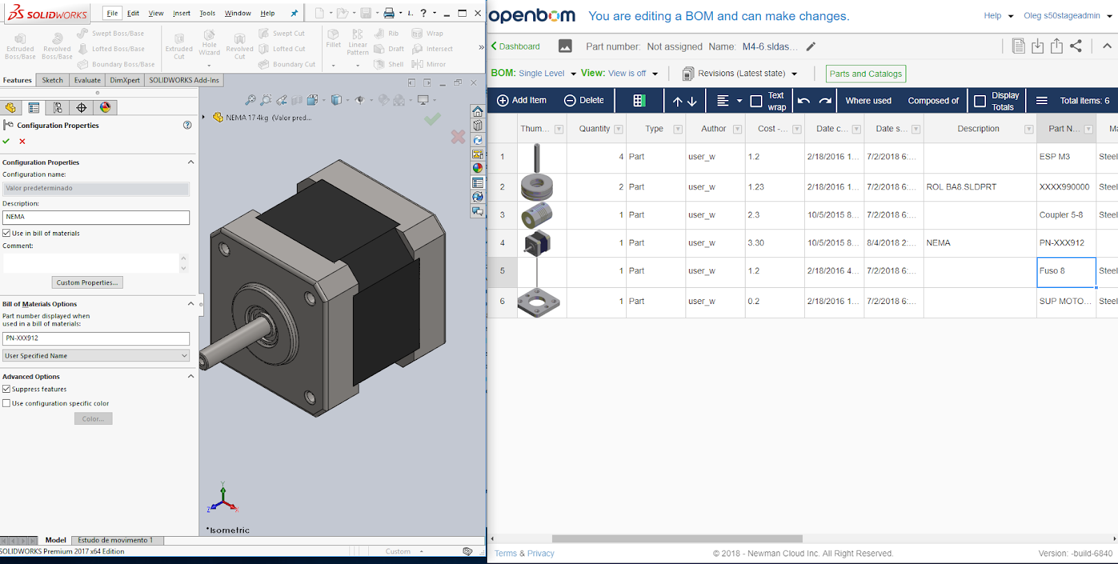 Openbom Solidworks Data Exchange Bits And Bytes Medium Back Of Computer Diagram To Sync It Only If The Option Is Set User Specific Name Please Keep In Mind Description Must Be Configured As Well Extracted Bom