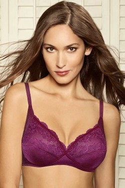 Amante Demi Lace Cross Over Bra