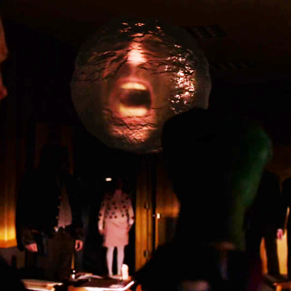 the bob orb screams before Freddie raises his green glove to punch it