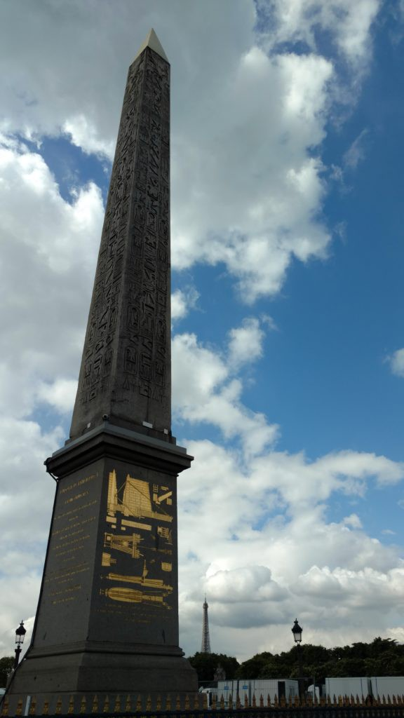 The Luxor Obelisk at the center of the Place de la Concorde in Paris, France