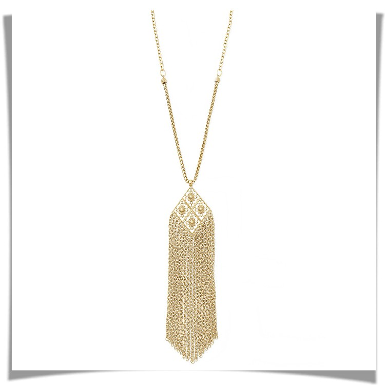 RED BOX GOLD TONE TASSEL NECKLACE INR 799