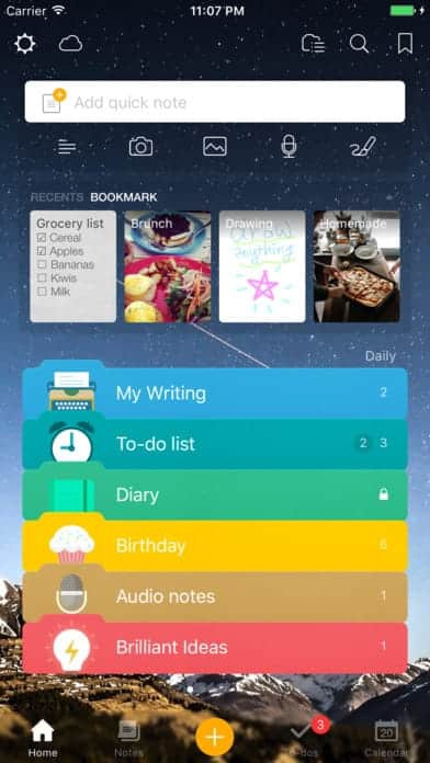 get awesome note 2 on ios - Ui Design Ideas