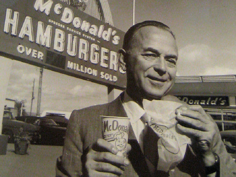 Having his big Mac and eating it too! Ray Kroc