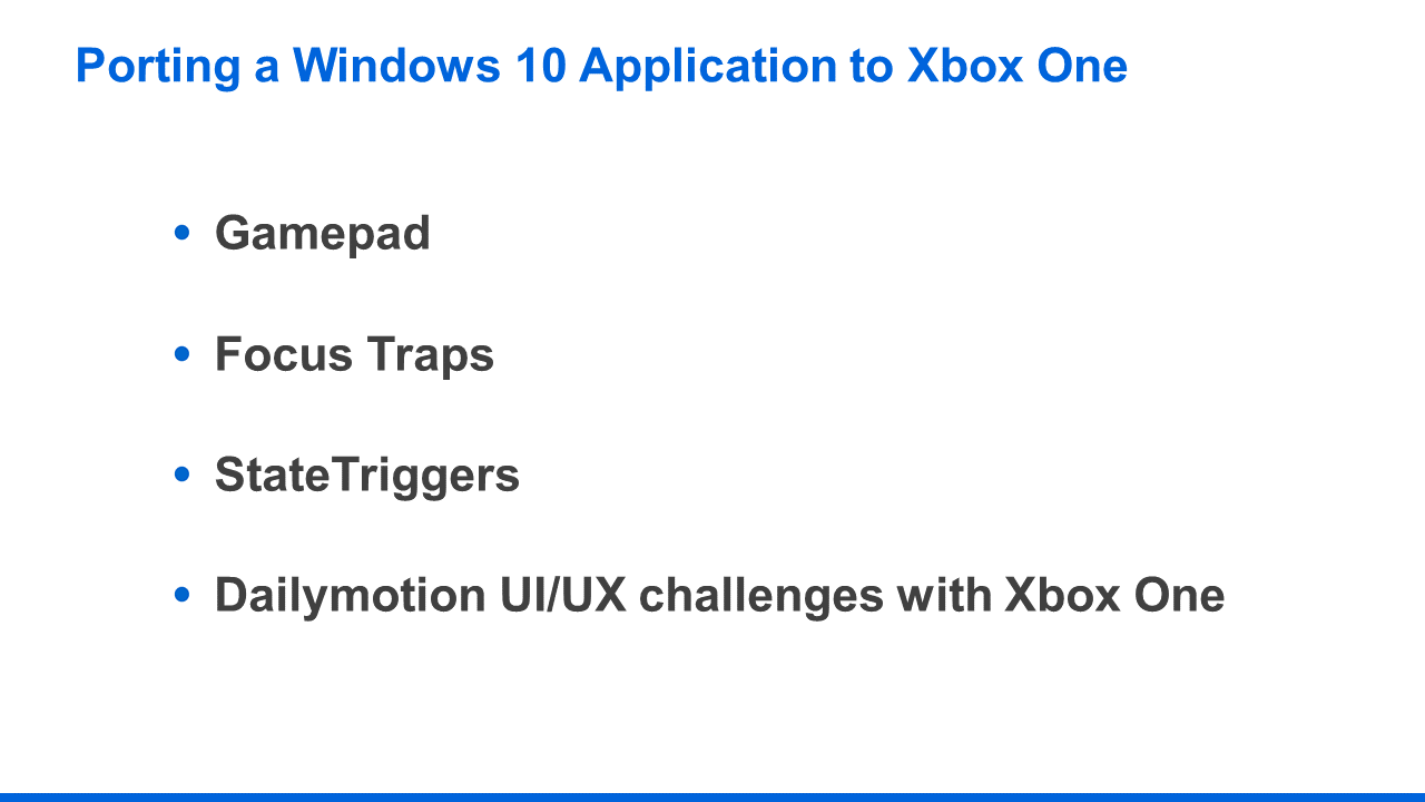 How we brought the Dailymotion UWP app to Xbox One with