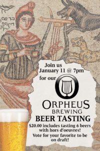 local craft beer orpheus flyer