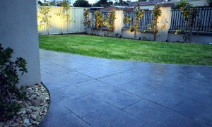 The best stamped concrete driveway in town!