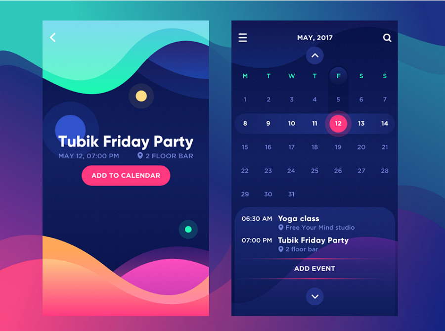 Calendar Typography Examples : Top ui design trends for mobile apps in muzli